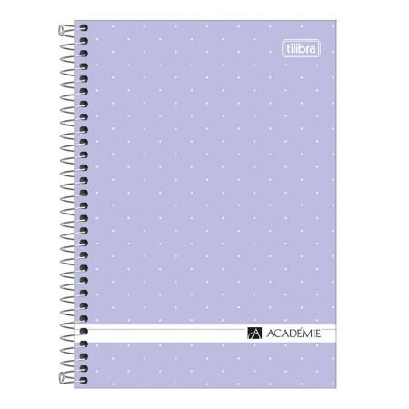 Caderno espiral capa dura 1/4 - 80 folhas - Academie Feminino - Branco - Tilibra