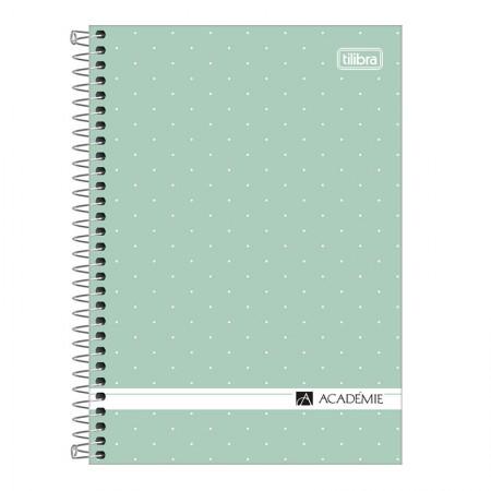 Caderno espiral capa dura 1/4 - 80 folhas - Academie Feminino - Pink - Tilibra
