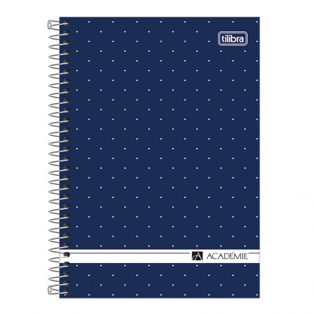 Caderno espiral capa dura 1/4 - 80 folhas - Academie Feminino - Lilás pastel - Tilibra
