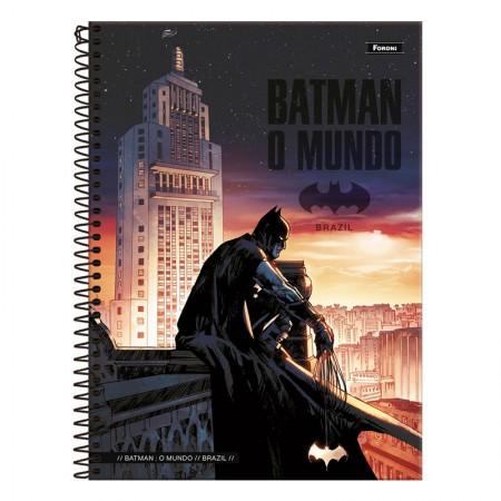 Caderno espiral capa dura universitário 1x1 - 96 folhas - Batman Teen - Capa 1 - Foroni