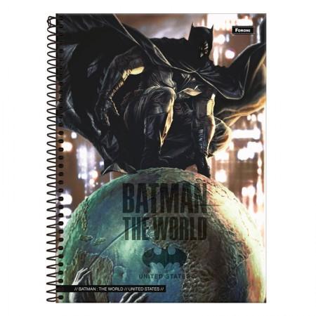 Caderno espiral capa dura universitário 1x1 - 96 folhas - Batman Teen - Capa 2 - Foroni