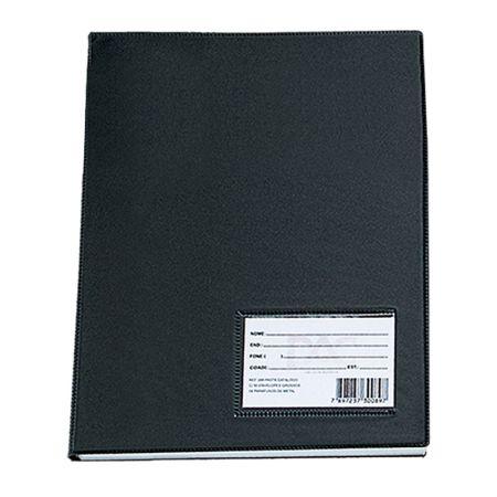 Pasta catálogo A3 - 155PR - Preto - com 30 envelopes plásticos - Dac