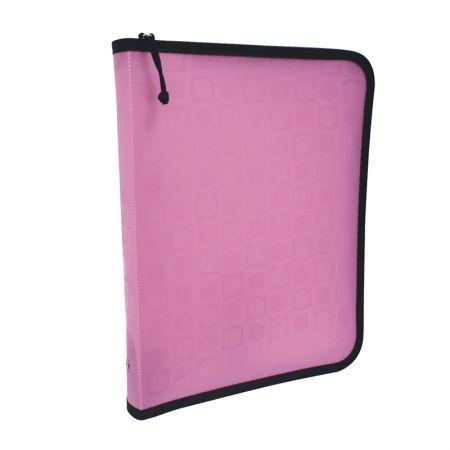 Fichário plástico com 4 argolas - 2355PI - Vision Pink - Dac