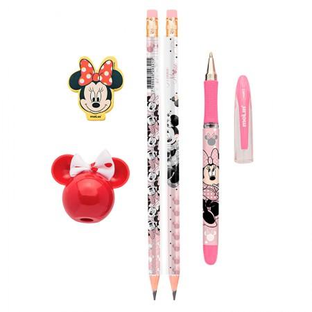 Kit escolar Minnie - com 5 itens - 22330 - Molin
