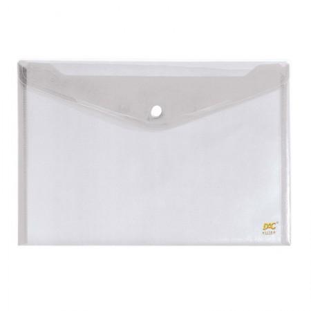 Envelope plástico com botão A5 - 654PP-TR - Cristal - Dac