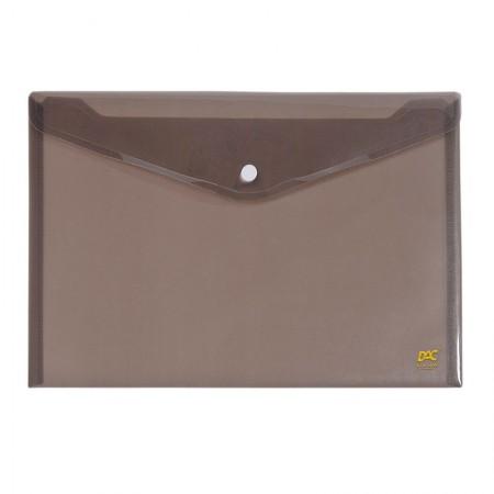 Envelope plástico com botão A5 - 654PP-FM - Fumê - Dac
