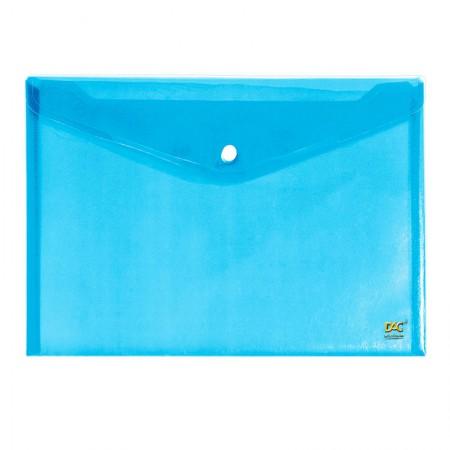 Envelope plástico com botão A5 - 654PP-AZ - Azul - Dac