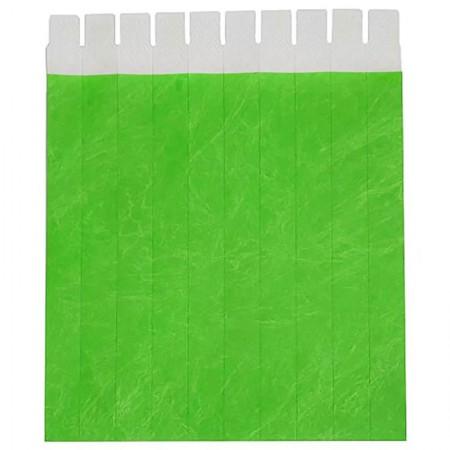 Pulseira de identificação Tyvek - Verde - com 50 unidades - Identcom