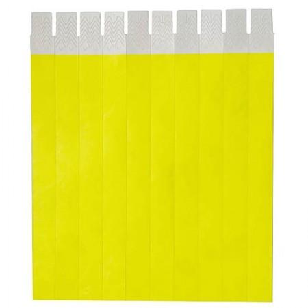 Pulseira de identificação tyvek - Amarela - com 50 unidades - Identcom