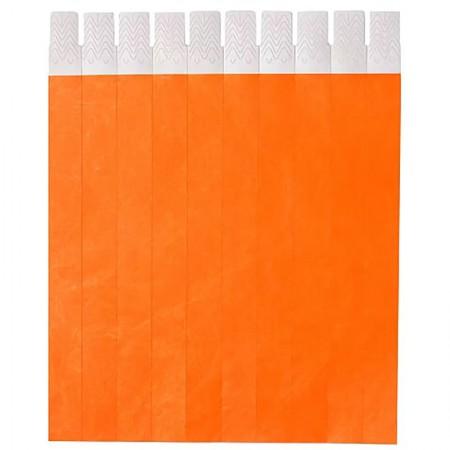 Pulseira de identificação tyvek - Laranja neon - com 50 unidades - Identcom