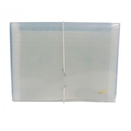 Pasta sanfonada duplicata 31 divisões cristal 6020PP-TR - Dac