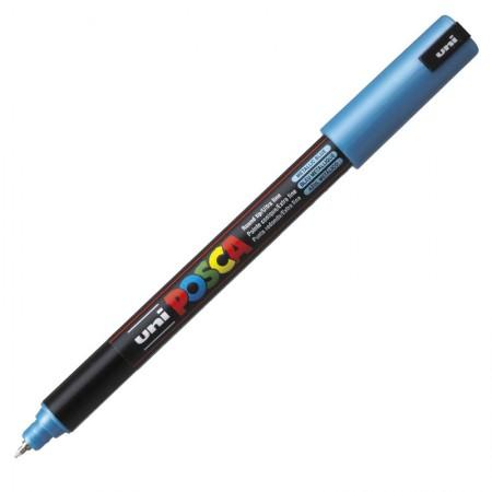Caneta Posca PC-1MR - azul metálico - Uni-Ball