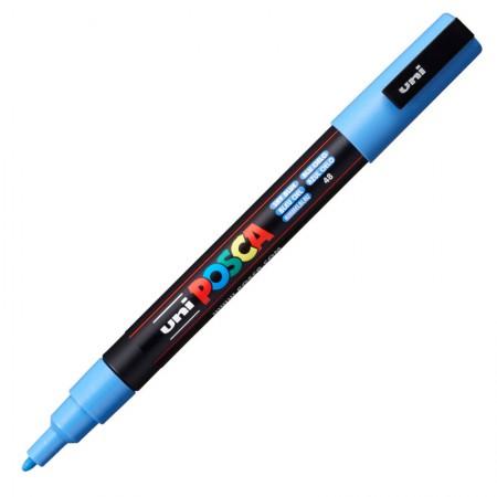 Caneta Posca PC-3M - azul ceu - Uni-Ball