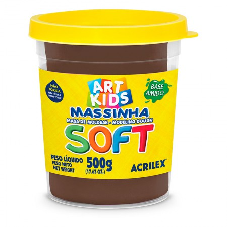 Massa de modelar Soft 500g - Chocolate 814 - Acrilex