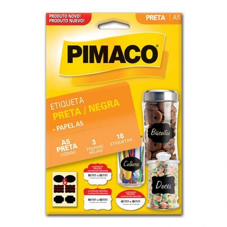 Etiqueta adesiva p/codificação sortidas preta 3fls Pimaco