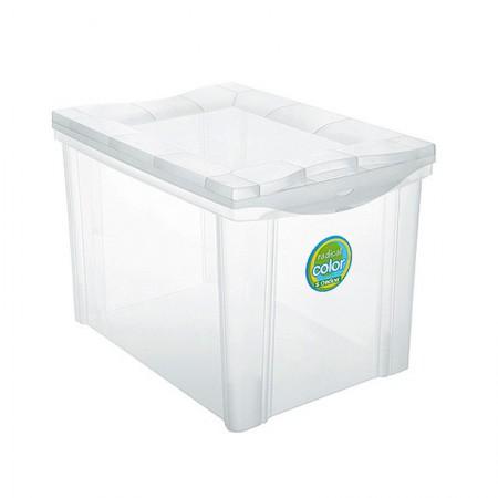 Caixa organizadora média alta - cristal - 21201 - Ordene