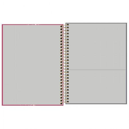 Caderno colegial capa dura executivo feminino - 80 folhas - Cambridge - Cinza - Tilibra