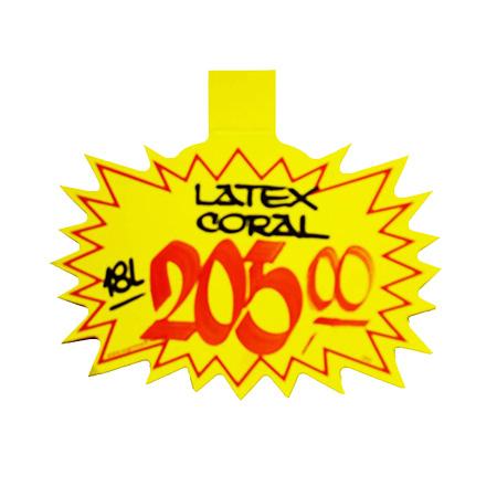 Splash liso amarelo - 5210 - com 25 unidades - 12x15 cm - Radex