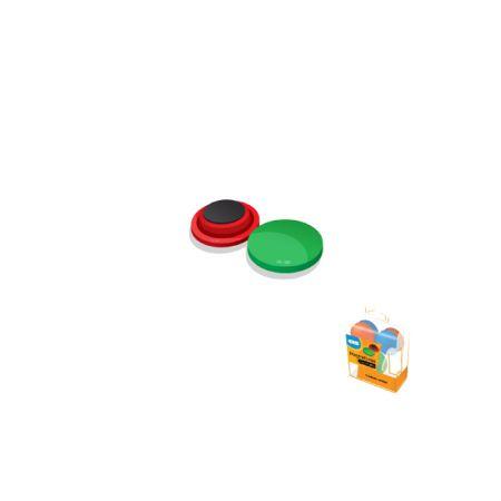 Imã redondo colorido - KY-028 - blister com 6 unidades - 20mm - Sertic