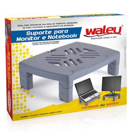 Suporte para monitor e notebook cinza - 10090006 - Waleu