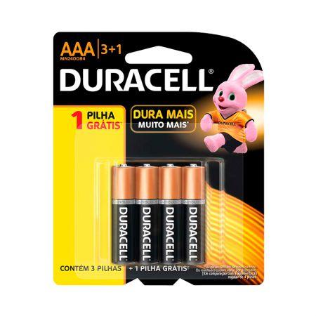 Pilha alcalina palito AAA - leve 4 pague 3 - Duracell