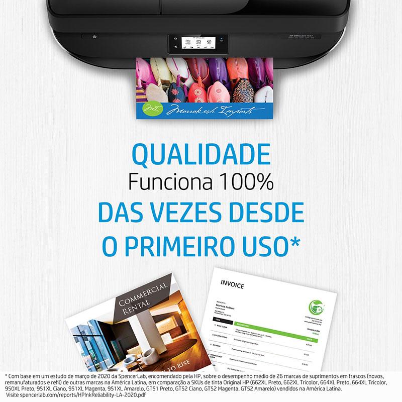 Garrafa de tinta HP (GT52) refil M0H54AL - Ciano 70ML