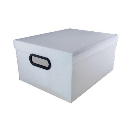Caixa organizadora média linho - cristal - 2192.H - Dello