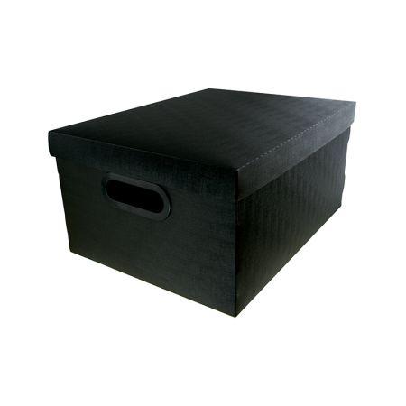 Caixa organizadora média linho - preta - 2192.P - Dello