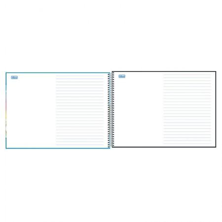 Caderno espiral capa dura meia pauta - 40 folhas - Academie - Tilibra