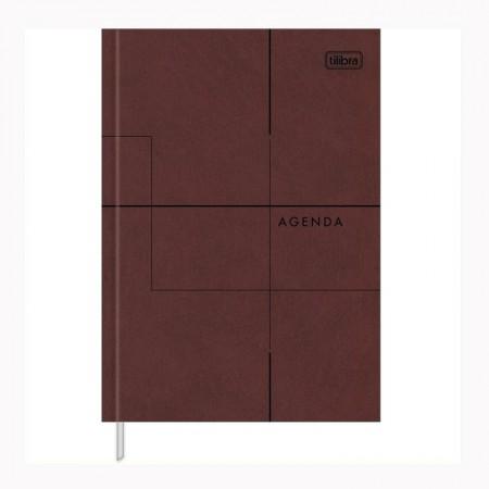 Agenda executiva costurada diária de mesa permanente Prátika 2020 - Bege - Tilibra