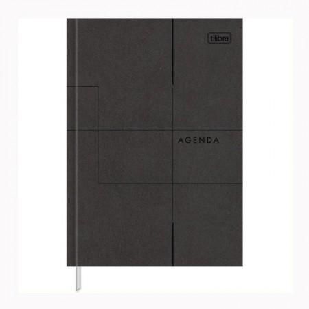 Agenda executiva costurada diária de mesa permanente Prátika 2020 - Preta - Tilibra