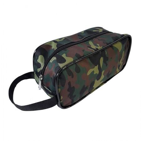 Estojo escolar com ziper - 201-M1328VD/20 - Multiuso Camuflado Verde - Franesb
