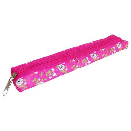 Estojo escolar com ziper - 109-4034/20 - Canudinho Flowers Pink - Franesb