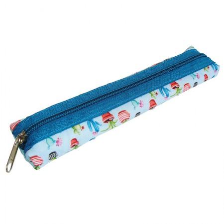 Estojo escolar com ziper - 109-5946/20 - Canudinho Cactus - Franesb