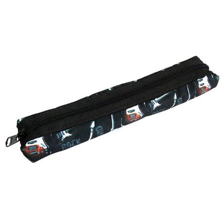 Estojo escolar com ziper - 109-M1240/20 - Canudinho Rock - Franesb