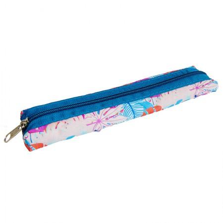 Estojo escolar com ziper - 109-6007/20 - Canudinho Flower Summer - Franesb