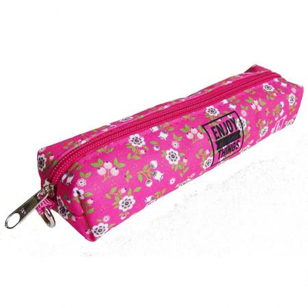 Estojo escolar pequeno 1004034/20 Flowers Pink Franesb