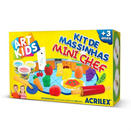 Massinha kit Mini Cheff - Art Kids 40008 - Acrilex