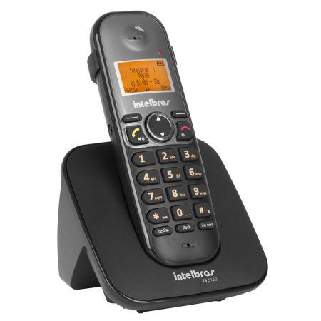 Telefone sem fio com identificador preto - TS5120 - Intelbras