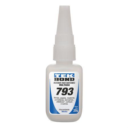 Cola adesiva instantânea 793 com 20g - Tekbond