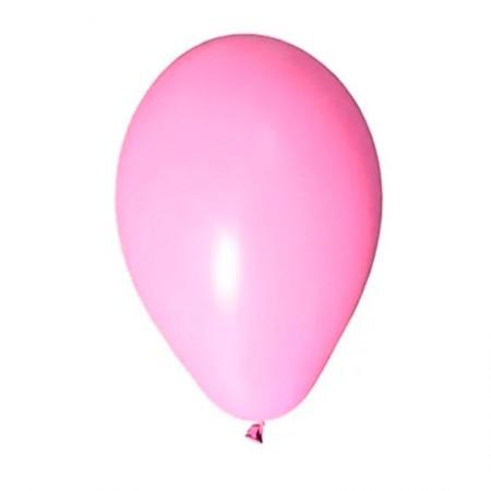 Bexiga rosa claro número 7 - Art Festa - com 50 unidades - Balloontech