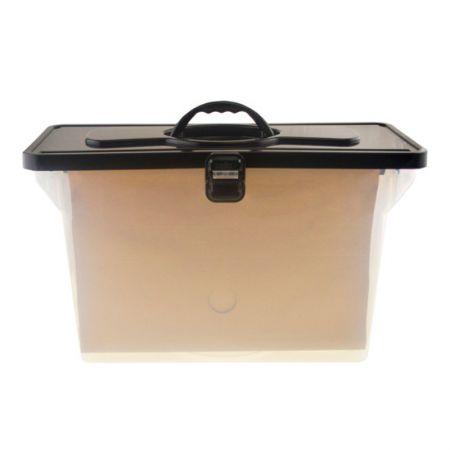 Maleta arquivo empilhável com 6 pastas suspensas - preta - 0332.P - Dello