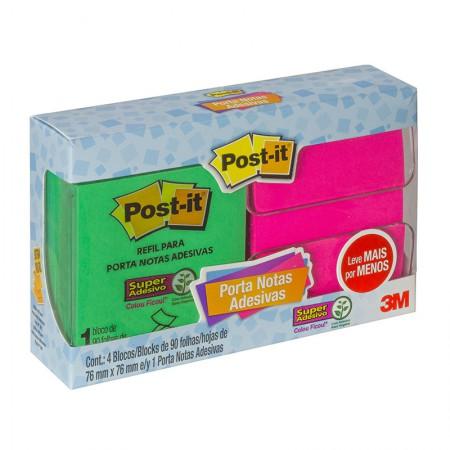Suporte Post-it popup kit 4 blocos 90fls 76x76mm 3M