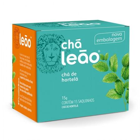 Chá de hortelã - com 15 unidades - Leão Fuze