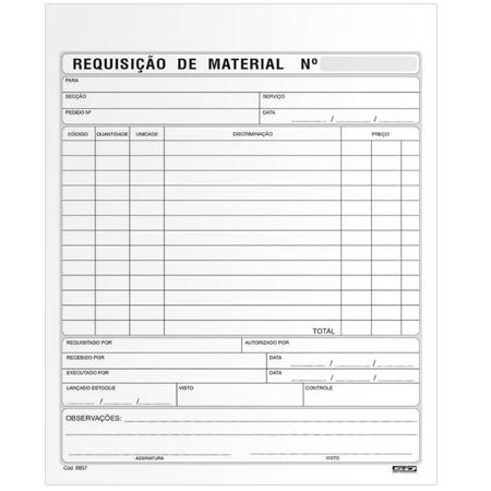 Requisição de material grande com 50 folhas - São Domingos