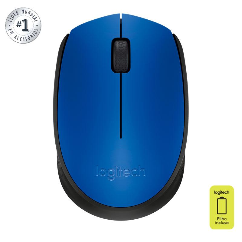Mouse sem fio M170 azul - Logitech