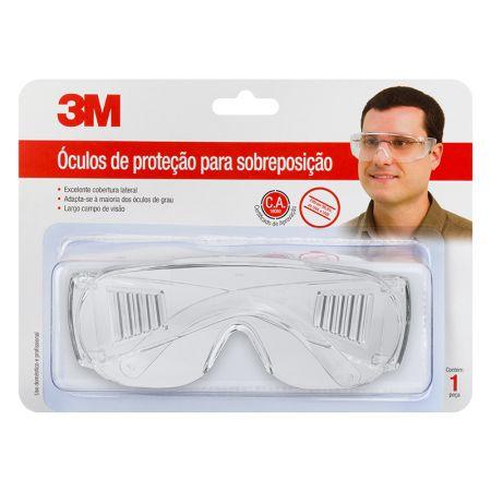 Óculos de proteção para sobreposição - transparente - 3M (C.A. 18080)