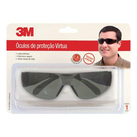 Óculos de proteção virtua - cinza - 3M (C.A. - 15649)