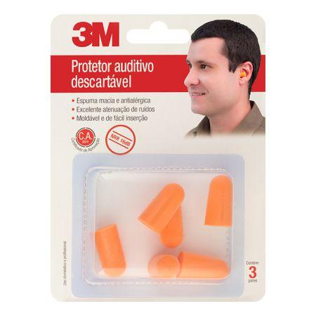 Protetor auditivo descartável - 3M (C.A 19685)