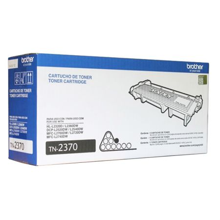 Toner Brother TN2370 - preto 2600 páginas